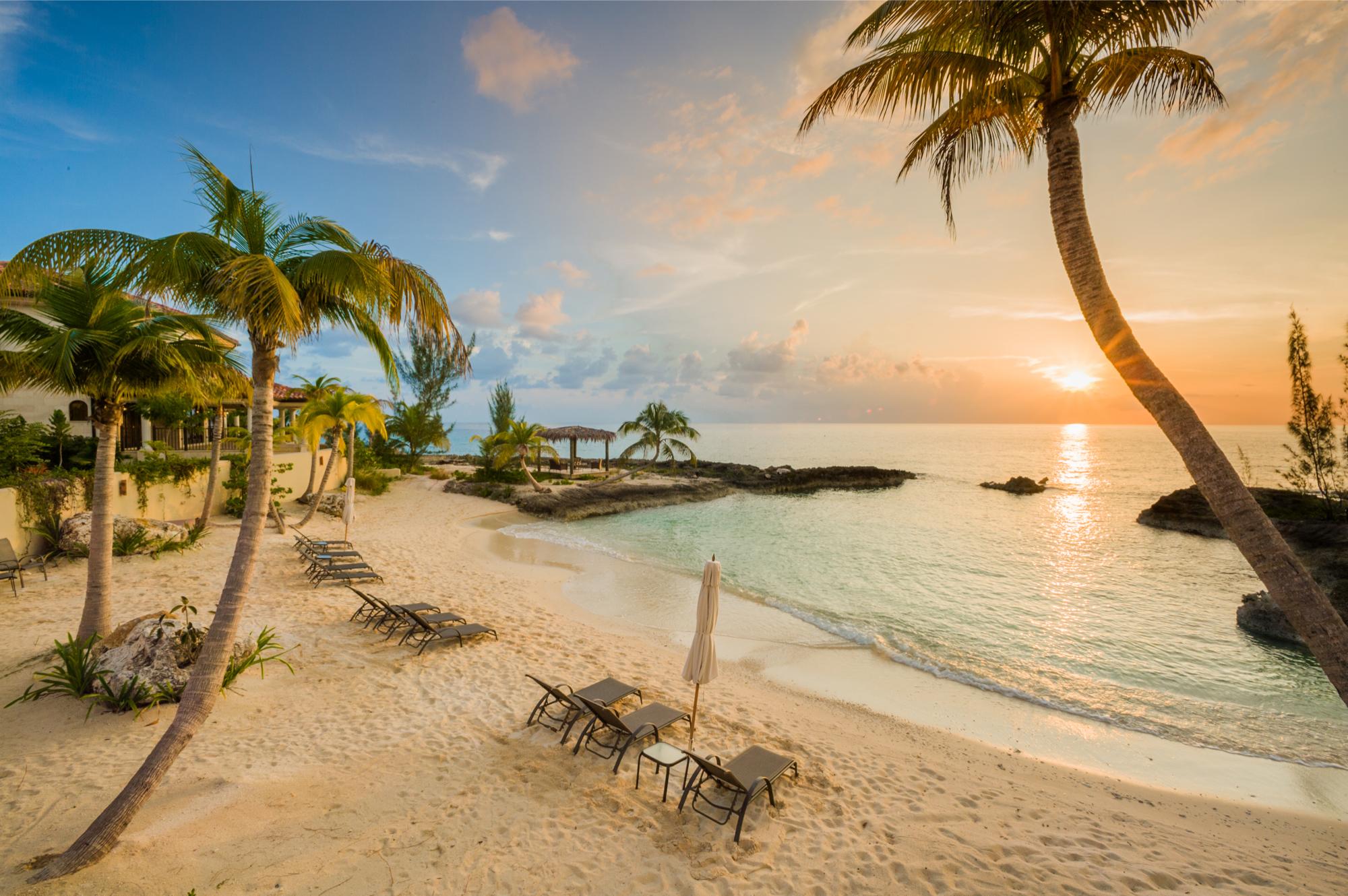 Private Beach in Cayman Islands. winter destinations