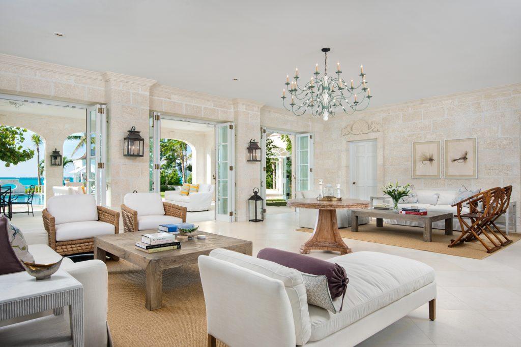 Living room at villa Coral Pavilion
