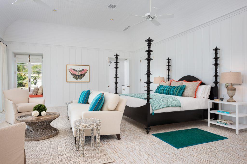 Master bedroom at villa Coral Pavilion