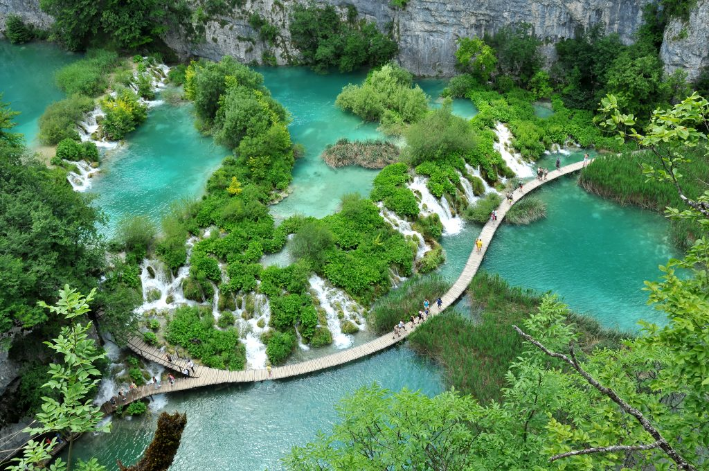 One of the travertine features at the UNESCO listed Plitvice lakes national park in Croatia. Spring Getaway to Croatia