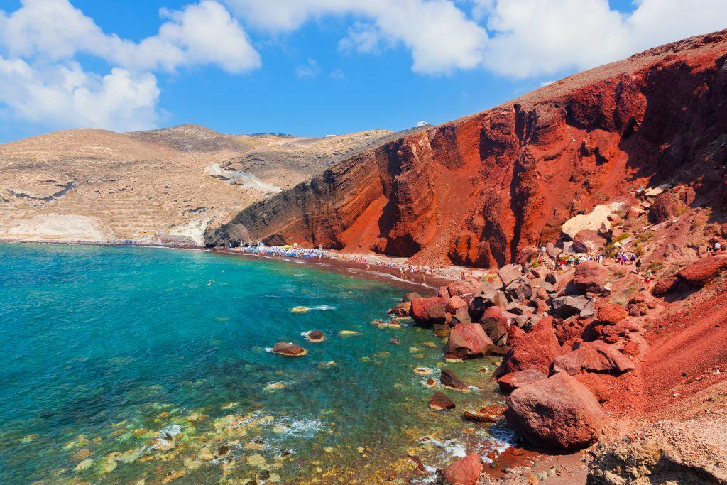 Red beach on Santorini Island. Best beaches in the world